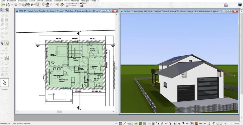 3D Visualisierung mit Grundstücksplaner Software
