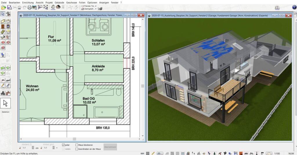 3D Visualisierung mit dem Einrichtungsprogramm