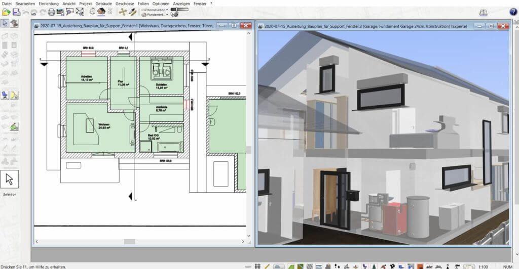3D Visualisierung mit der Büroplaner Software