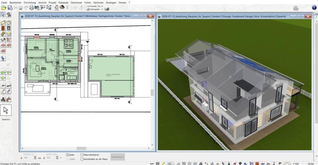 3D Visualisierung mit der Hausbau Simulator Software