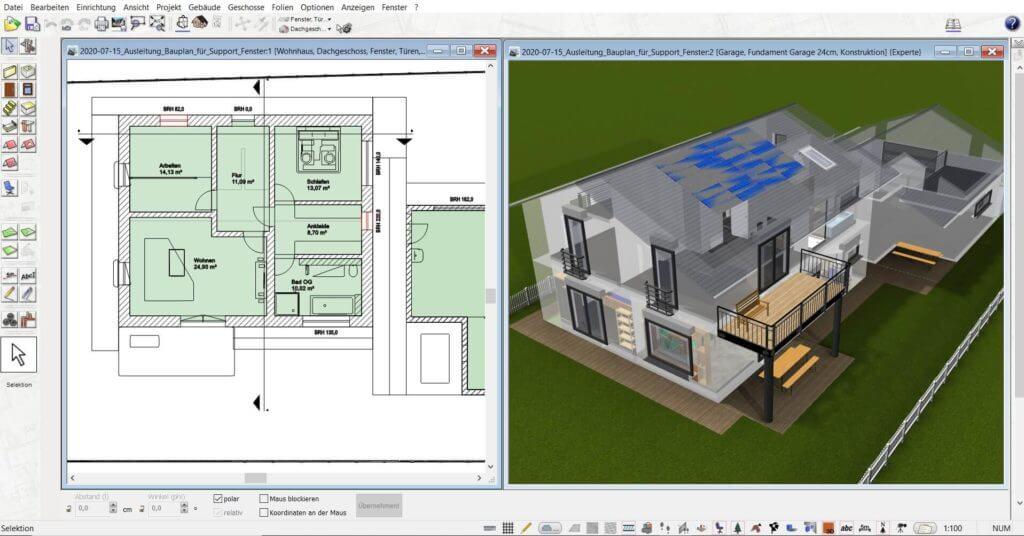 3D Visualisierung vom Dachausbau