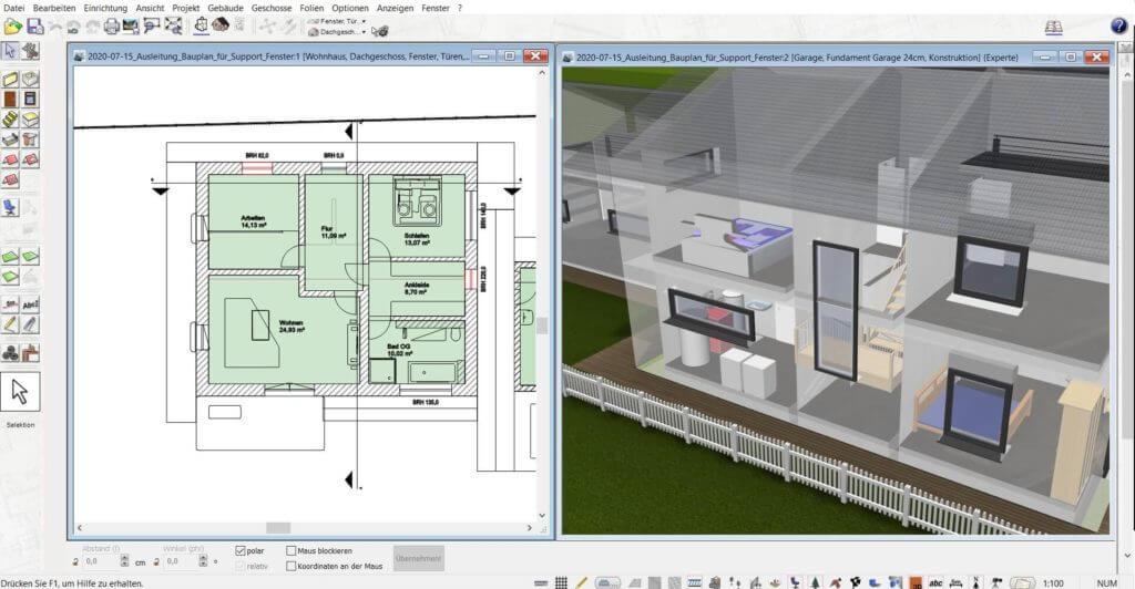 3D Visualisierung vom Gewächshaus