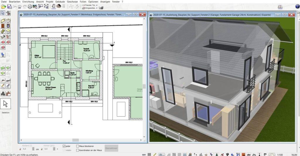 3D Visualisierung vom Haus