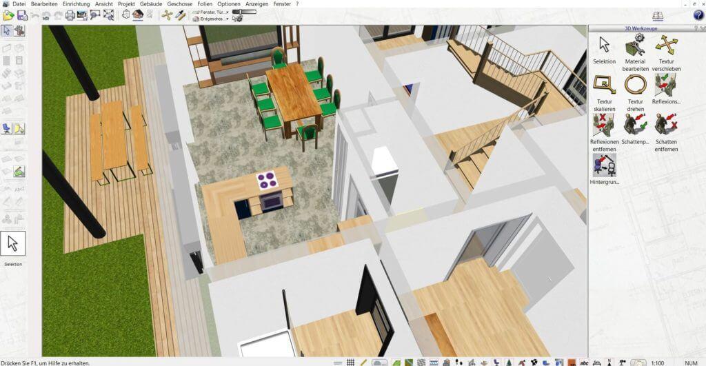 Einrichtungsplanung mit der Innenarchitektur Software