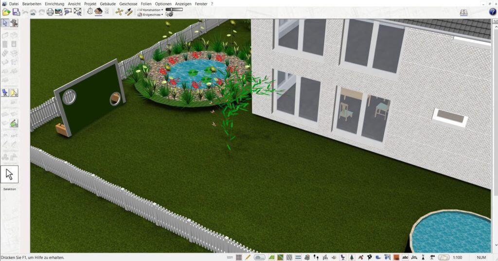Garten mit Gewächshaus planen