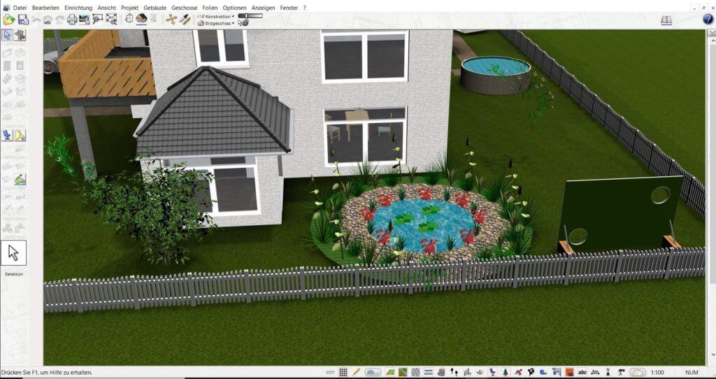 Garten planen mit der Büroplaner Software
