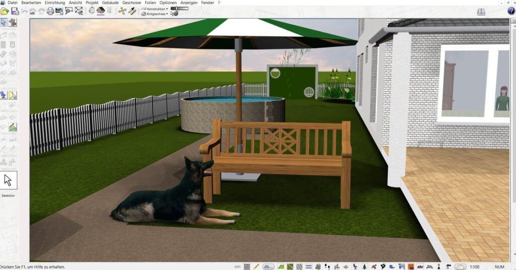 Garteneinrichtung planen mit der Innenarchitektur Software
