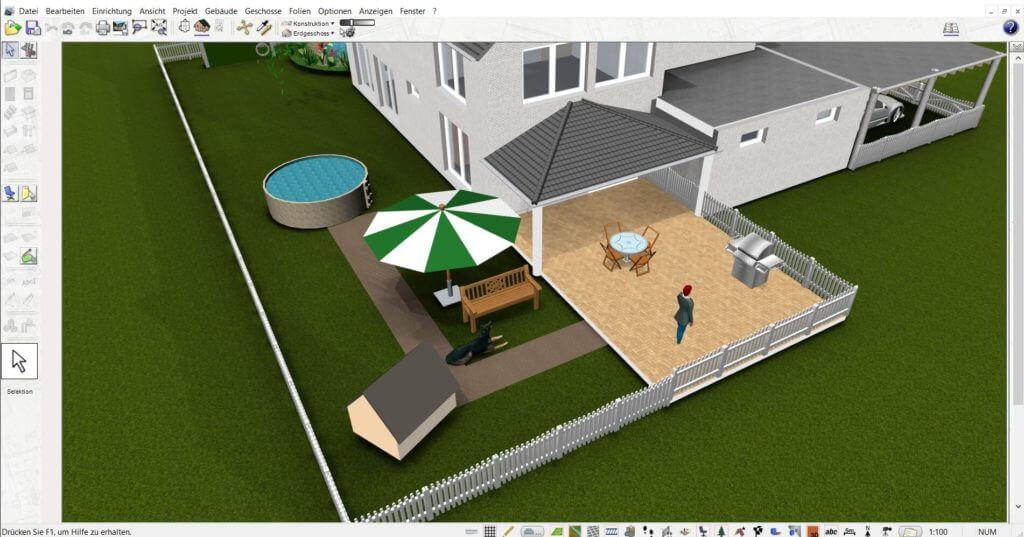 Gartenplanung mit der Treppenplaner Software