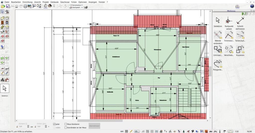 Grundriss der Terrasse zeichnen