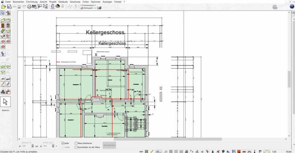 Grundriss vom Dachausbau planen