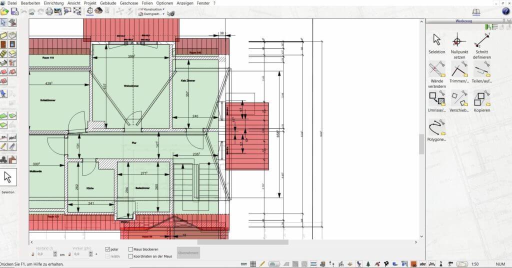 Grundriss zeichnen mit Grundstücksplaner Software
