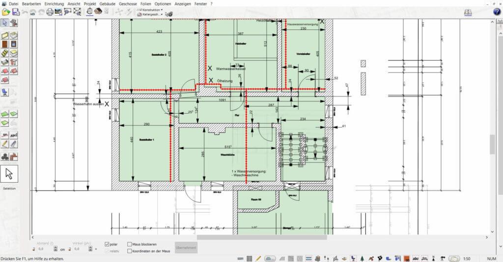 Grundrisse mit der Hausbau Simulator Software erstellen
