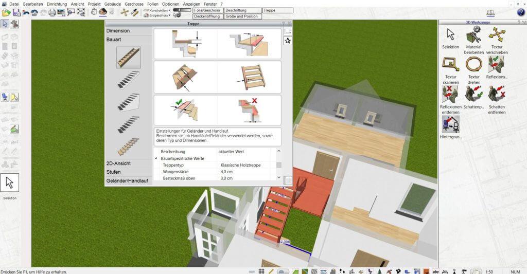 Raumplanung an der Terrasse