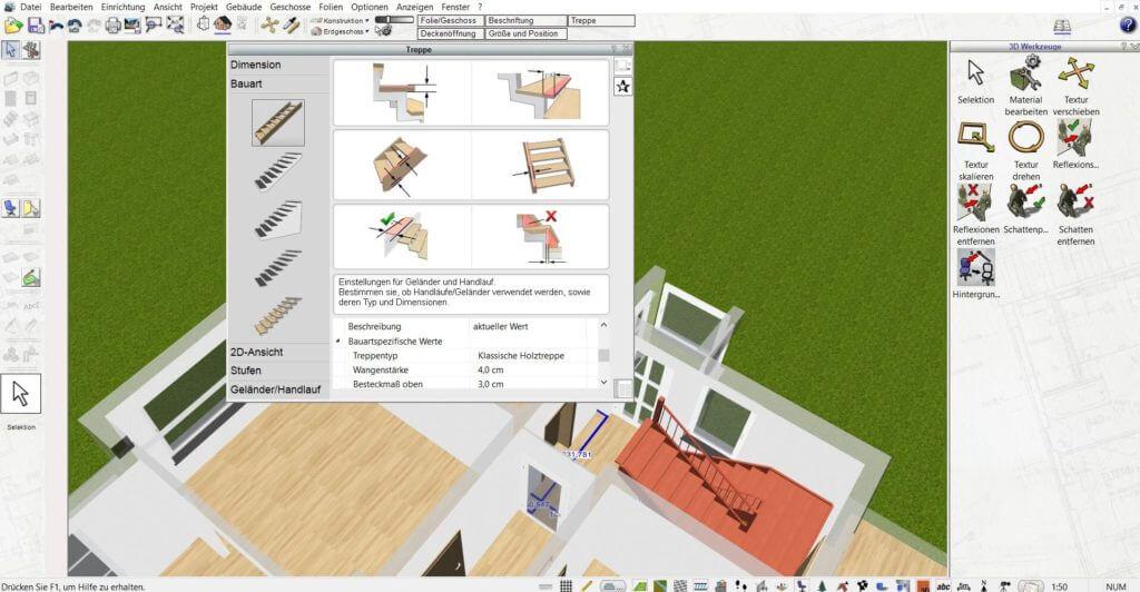 Raumplanung mit Grundstücksplaner Software