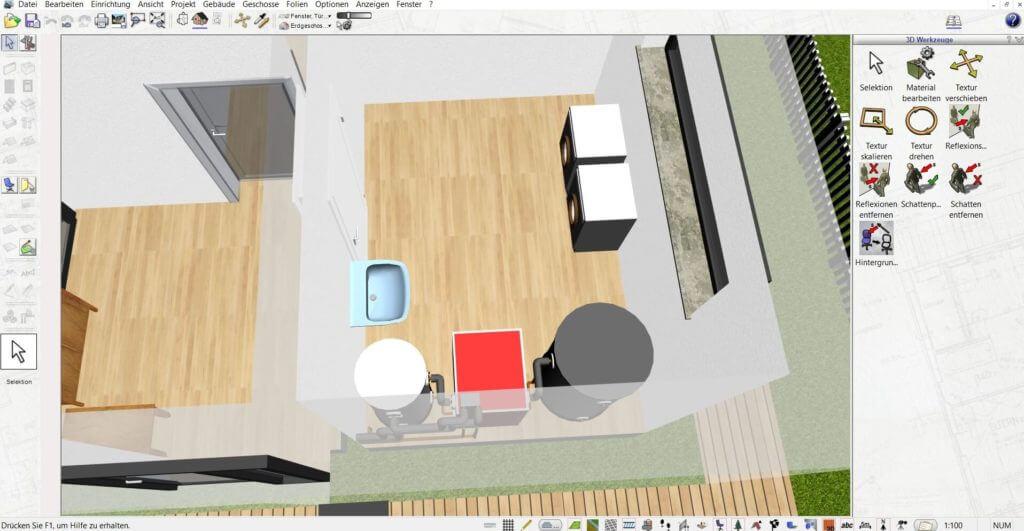 Raumplanung mit dem Einrichtungsprogramm