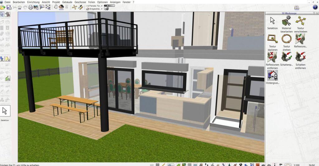Raumplanung mit der Hausbau Simulator Software
