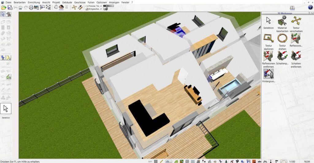 Raumplanung mit der Treppenplaner Software