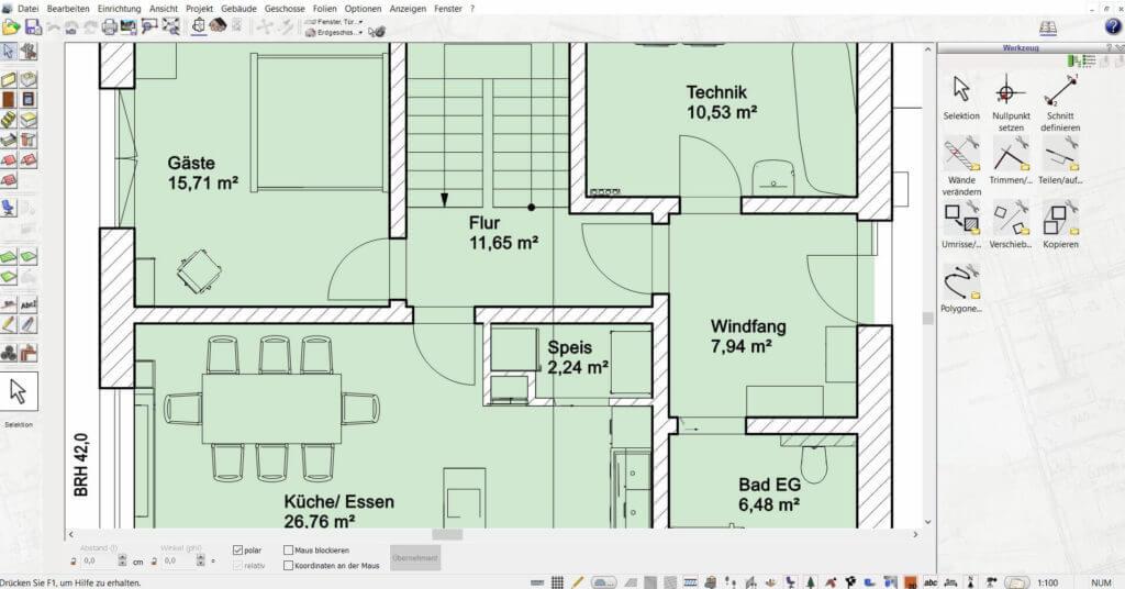 Wohnung mit der Hausbau Simulator Software planen