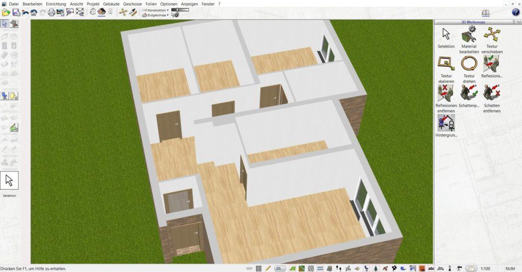 Wohnung planen mit der Innenarchitektur Software