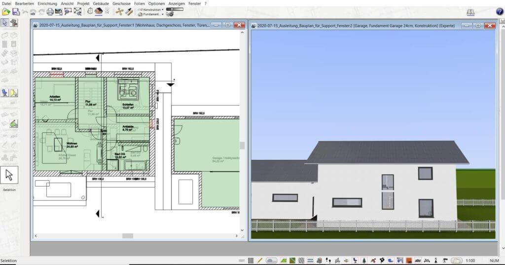 3D Visualisierung vom Fachwerkhaus