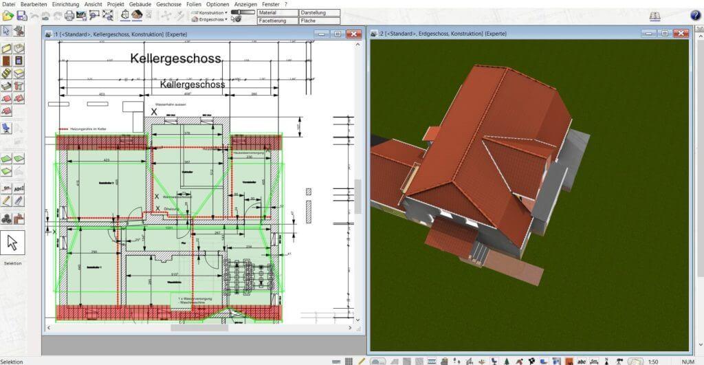 Fachwerkhaus in 2D und 3D planen