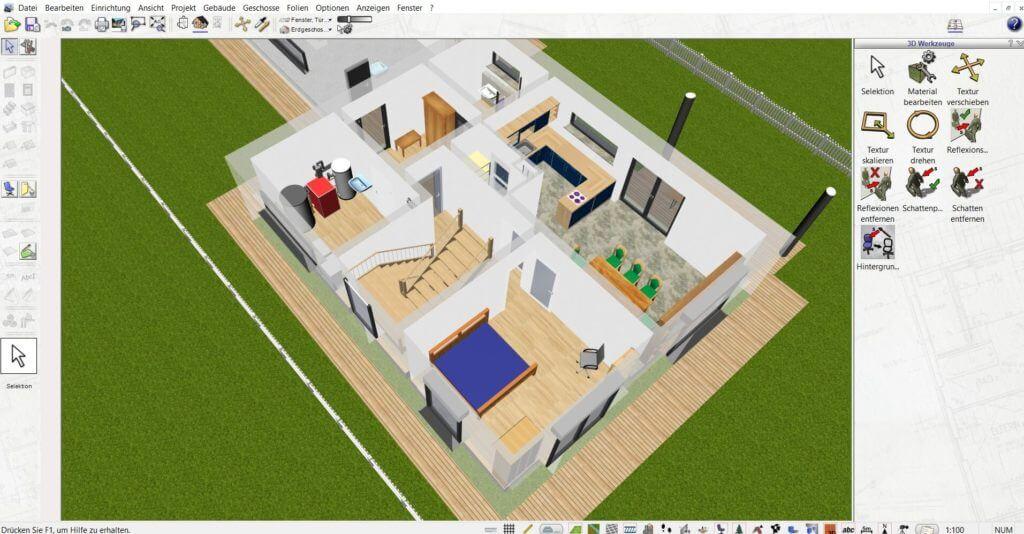 Wohnung planen und Schnitte